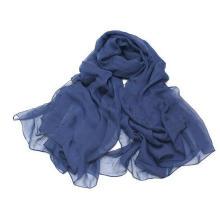 Couleur Suger Super Large Size Neckwear 784451g5 Écharpe en mousseline de soie polyester