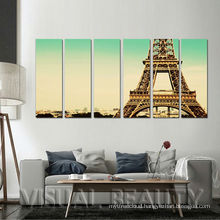 6 panels Paris Eiffel Towel Paintings Ready Wall Hanging Canvas Prints