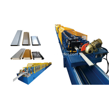 Double pintu pu shutter door machine