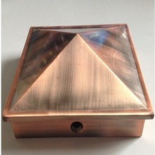 Pyramid Steel Cap for Square Post