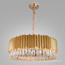 Home hotel restaurant living room ceiling pendant light  bedroom villa gold led modern crystal luxury chandeliers