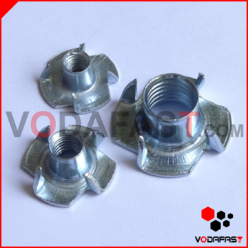 4 Prong Tee Nuts Zinc Plated