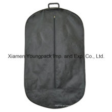Oval Shape Non-Woven Suit Garment Cover Bag with Plastic Handle