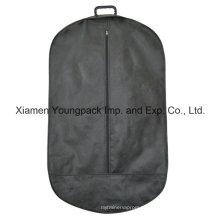 Forma oval não-tecido saco de vestuário cobrir vestuário com alça de plástico