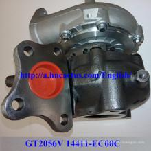 Gt2056V 14411-Ec00c Turbocompressor para Nissan Yd25