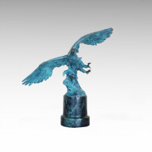 Tier Bronze Skulptur Eagle Dekor Messing Statue Tpal-458
