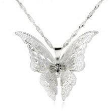 Art- und Weisepure silberner Neckace neue Art-Schmetterlings-hängende Schmucksache-Halsketten