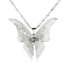 Fashion Pure Silver Neckace New Style Butterfly Pendant Jewelry Necklaces