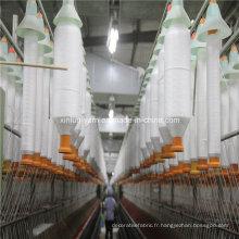 Rendement personnalisé des fils 100% polyester filé pour le tissage et le tricot