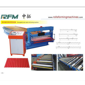 Aluminium Wave Profil Roofing Corrugated Forming Machine