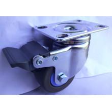 침묵하는 TPR 캐스터 휠 50mm 더블 브레이크