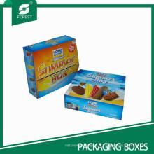 Caixas de papel dos fabricantes do gelado