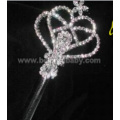 Silver And Crystal Rhinestone Heart Scepter