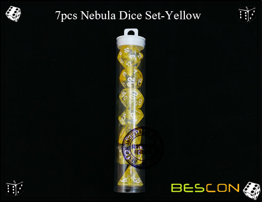 7pcs Nebula Dice Set-Yellow-2