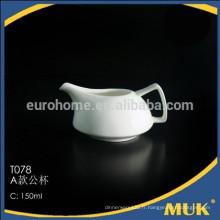 2015 chaozhou restaurant vente chaude 150 po de porcelaine blanche petite cruche à lait