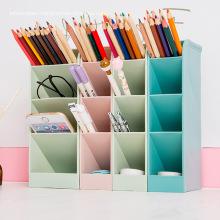 Plastic Tabletop Storage Box Office Stationery Pen Holder