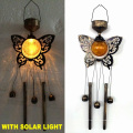 Солнечное освещение Украшение для сада Бронзовая отделка Металлическая сова Windbell Craft
