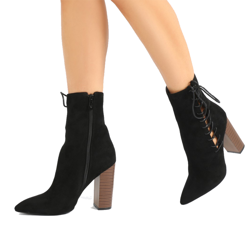high quality suede leather boots for women