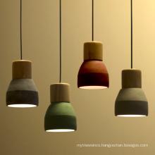 2020 Industrial lighting Concrete Pendant lamp vintage led pendant light for Restaurant Bar