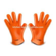 Großhandel Küche Kochen Hitzebeständige Silikon Durable Mikrowelle Ofen Handschuhe / Silikon Grill Ofen BBQ Handschuh / Ofen Mitt