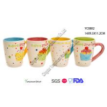 Ensembles de tasses en céramique moulés à la main pour enfants