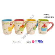 Hand Pinted Ceramic Mug Sets for Children