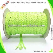 Cuerda trenzada de los PP, cuerda trenzada verde, fabricante del papa de los PP