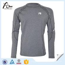 Chemises de couleur grise sexy homme Fitness Wear