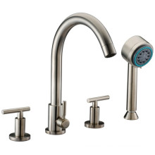 4-Hole Kitchen Mixer with Personal Handshower and Lever Handles