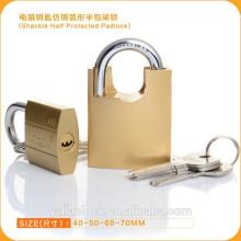 Essencial, segurança, grilo, meio, protegido, computador, tecla, cadeado