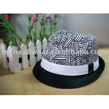 Fashion Girl's Cotton Fedora Hat pour le commerce de gros