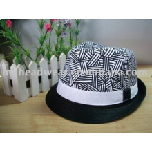 Fashion Girl's Cotton Fedora Hat for wholesale