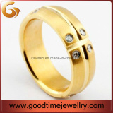 Fashion Stainless Steel Gold Rings (GSR-1199)