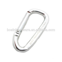 Fashion High Quality Metal Flat D Shape Carabiner