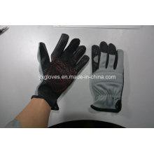 Mechanic Gloves-Silicon Gel Palm Glove-Work Glove-Hand Glove-Labor Glove-Safety Glove-Industrial Glove