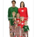 2016 горячая распродажа детские рождественские пижамы с красный и зеленый топ с полосатым брюки