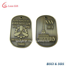 Embossed 3D Design Bronze Color Dog Tag Custom