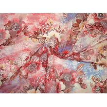 Tissu imprimé en tricot en maille de dentelle