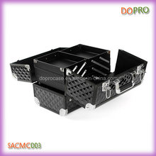 Black Diamond ABS Fabric Cheap Aluminum Makeup Carrier Case (SACMC003)