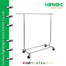 Подвижная складная стойка для одежды с выдвижной подвеской