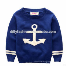2015 fashion knitted custom design wool cashmere pullover sweater for boys