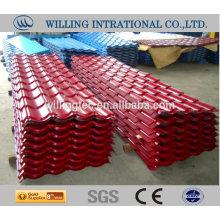 Tela de azulejo de aço de telhado de áfrica do sul de boa qualidade feita na China