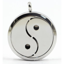 Tai Chi 30mm Rd Silver Stainless Steel Perfume Difffuser Locket