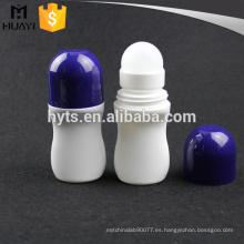 Rollo desodorante plástico blanco de 50 ml en botella