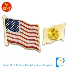 America Flag Pin Badge with Enamel in High Quality