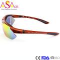 Moda cambiável Temple Sports Tr90 óculos de sol com quadros ópticos internos Xiamen