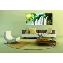 Impresión moderna de la lona de la cascada del paisaje hermoso para la decoración de la pared de la sala de estar