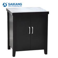 SKS012-1 Petite armoire de chevet mobile en bois avec 2 portes