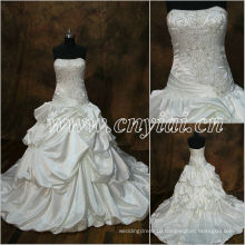 JJ2883 Beaded Sleeveless Ball Gown Full beading long train Embroidery wedding dress 2013