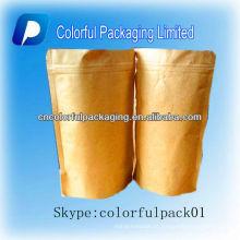 Chá de café de papel Kraft de pé sacos de embalagem com / sem janela